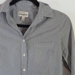 J. Crew   Boy Striped Button Down Shirt Size 2